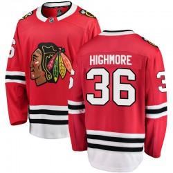 Matthew Highmore Chicago Blackhawks Men's Fanatics Branded Red Breakaway Home Jersey