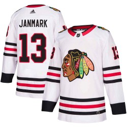 Mattias Janmark Chicago Blackhawks Men's Adidas Authentic White Away Jersey