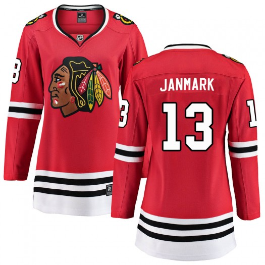 Mattias Janmark Chicago Blackhawks Women's Fanatics Branded Red Breakaway Home Jersey