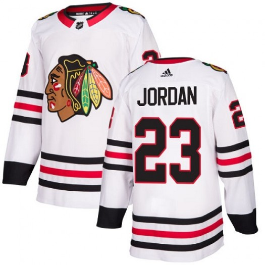 Michael Jordan Chicago Blackhawks Women's Adidas Authentic White Away Jersey