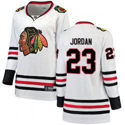 Michael Jordan Chicago Blackhawks Women's Fanatics Branded White Breakaway Away Jersey