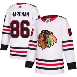 Mike Hardman Chicago Blackhawks Youth Adidas Authentic White Away Jersey