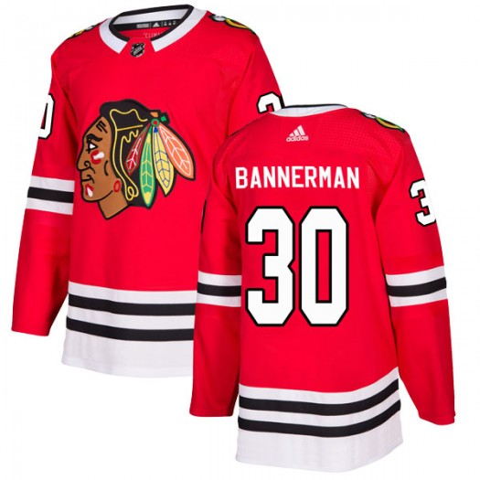 Murray Bannerman Chicago Blackhawks Men's Adidas Authentic Red Home Jersey