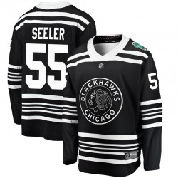 Nick Seeler Chicago Blackhawks Youth Fanatics Branded Black 2019 Winter Classic Breakaway Jersey