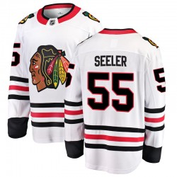 Nick Seeler Chicago Blackhawks Youth Fanatics Branded White Breakaway Away Jersey