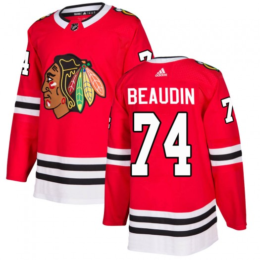 Nicolas Beaudin Chicago Blackhawks Men's Adidas Authentic Red ized Home Jersey