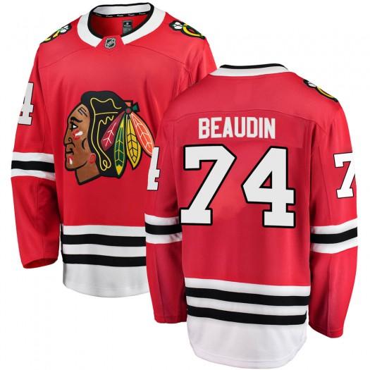 Nicolas Beaudin Chicago Blackhawks Men's Fanatics Branded Red ized Breakaway Home Jersey