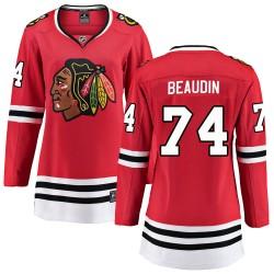Nicolas Beaudin Chicago Blackhawks Women's Fanatics Branded Red ized Breakaway Home Jersey