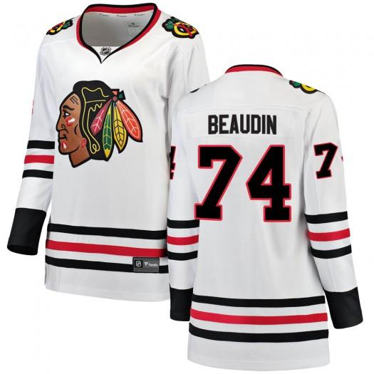 Nicolas Beaudin Chicago Blackhawks Women's Fanatics Branded White ized Breakaway Away Jersey