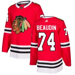 Nicolas Beaudin Chicago Blackhawks Youth Adidas Authentic Red ized Home Jersey