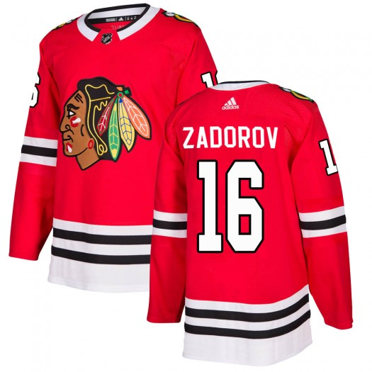 Nikita Zadorov Chicago Blackhawks Men's Adidas Authentic Red Home Jersey