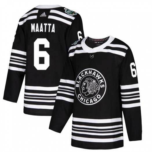 Olli Maatta Chicago Blackhawks Men's Adidas Authentic Black 2019 Winter Classic Jersey