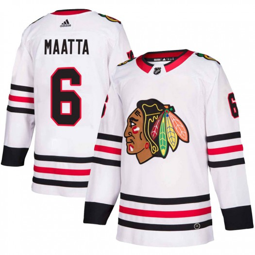 Olli Maatta Chicago Blackhawks Men's Adidas Authentic White Away Jersey