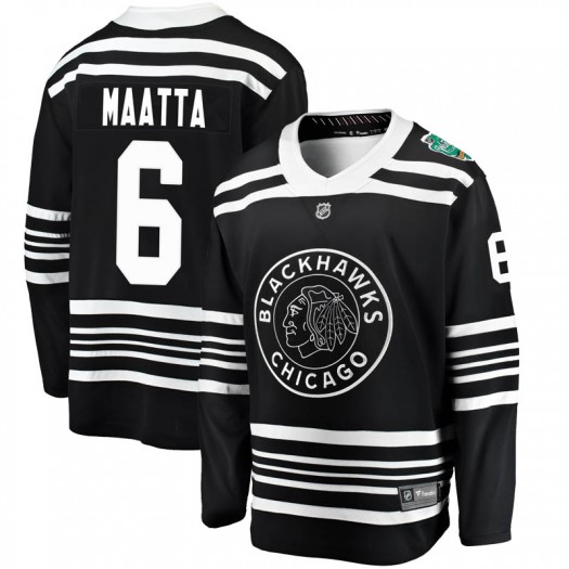 Olli Maatta Chicago Blackhawks Men's Fanatics Branded Black 2019 Winter Classic Breakaway Jersey