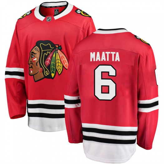 Olli Maatta Chicago Blackhawks Men's Fanatics Branded Red Breakaway Home Jersey