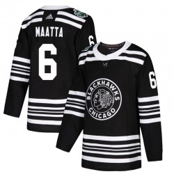 Olli Maatta Chicago Blackhawks Youth Adidas Authentic Black 2019 Winter Classic Jersey