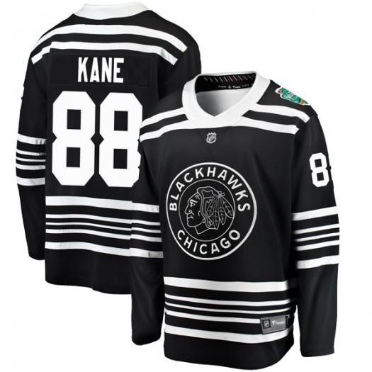 Patrick Kane Chicago Blackhawks Men's Fanatics Branded Black 2019 Winter Classic Breakaway Jersey