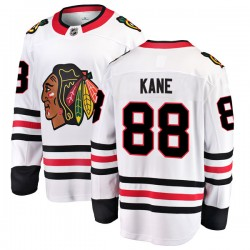 Patrick Kane Chicago Blackhawks Men's Fanatics Branded White Breakaway Away Jersey