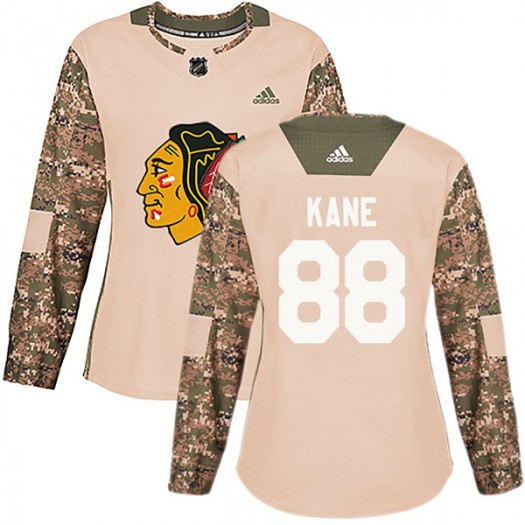 Patrick Kane Chicago Blackhawks Women's Adidas Authentic Camo Veterans Day Practice Jersey