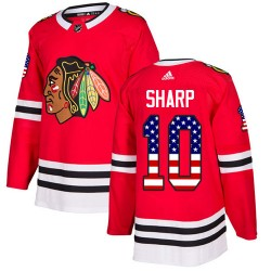 Patrick Sharp Chicago Blackhawks Men's Adidas Authentic Red USA Flag Fashion Jersey