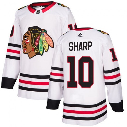 Patrick Sharp Chicago Blackhawks Women's Adidas Authentic White Away Jersey