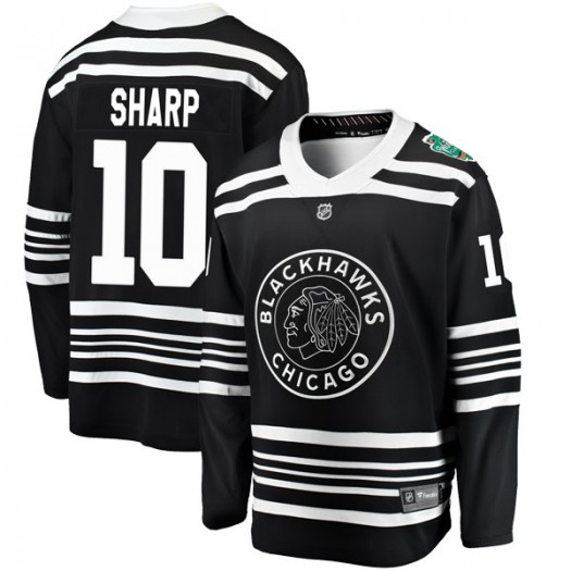 Patrick Sharp Chicago Blackhawks Youth Fanatics Branded Black 2019 Winter Classic Breakaway Jersey