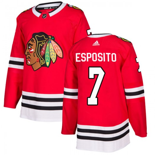 Phil Esposito Chicago Blackhawks Men's Adidas Authentic Red Home Jersey