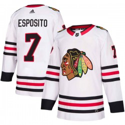 Phil Esposito Chicago Blackhawks Youth Adidas Authentic White Away Jersey