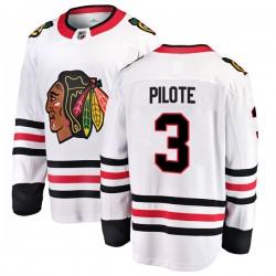 Pierre Pilote Chicago Blackhawks Men's Fanatics Branded White Breakaway Away Jersey