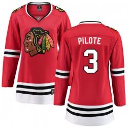 Pierre Pilote Chicago Blackhawks Women's Fanatics Branded Red Home Breakaway Jersey
