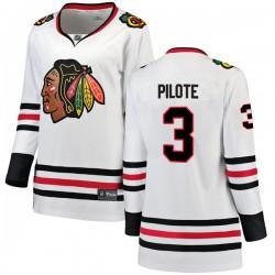 Pierre Pilote Chicago Blackhawks Women's Fanatics Branded White Breakaway Away Jersey