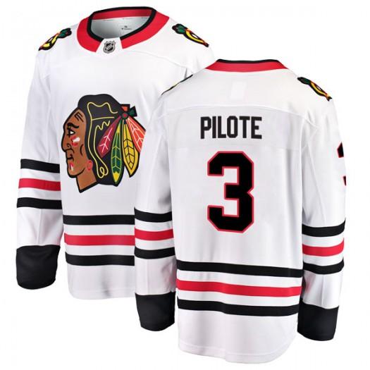 Pierre Pilote Chicago Blackhawks Youth Fanatics Branded White Breakaway Away Jersey