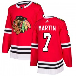 Pit Martin Chicago Blackhawks Men's Adidas Authentic Red Home Jersey
