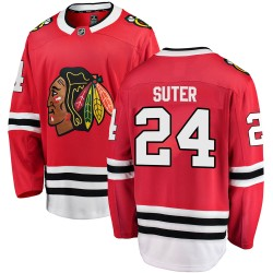 Pius Suter Chicago Blackhawks Men's Fanatics Branded Red Breakaway Home Jersey