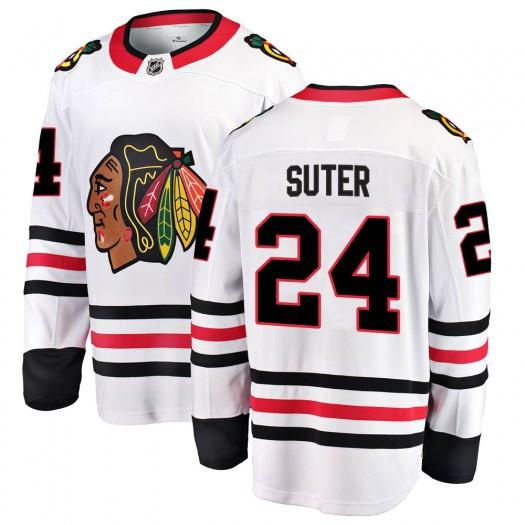 Pius Suter Chicago Blackhawks Men's Fanatics Branded White Breakaway Away Jersey