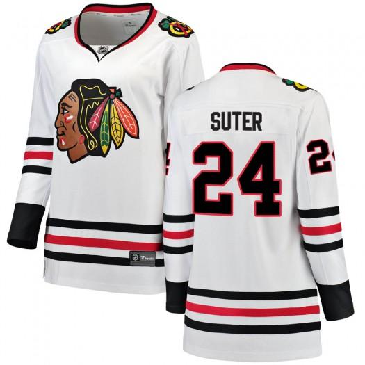 Pius Suter Chicago Blackhawks Women's Fanatics Branded White Breakaway Away Jersey