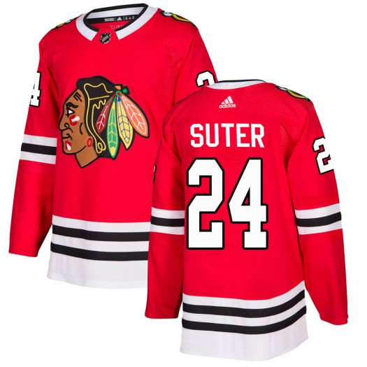 Pius Suter Chicago Blackhawks Youth Adidas Authentic Red Home Jersey