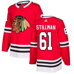 Riley Stillman Chicago Blackhawks Men's Adidas Authentic Red Home Jersey