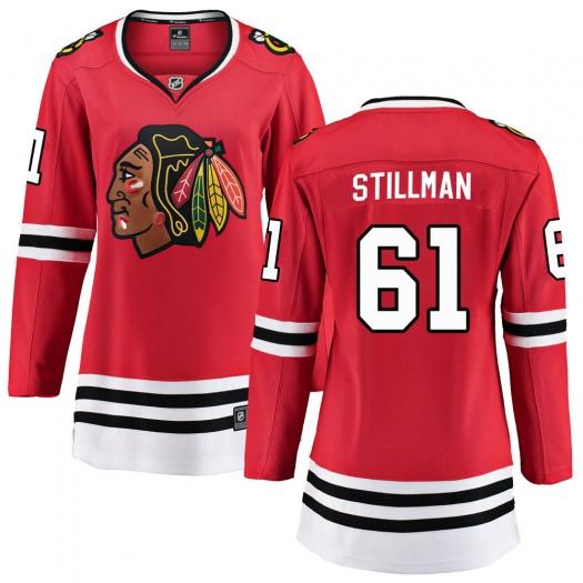 Riley Stillman Chicago Blackhawks Women's Fanatics Branded Red Breakaway Home Jersey