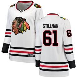 Riley Stillman Chicago Blackhawks Women's Fanatics Branded White Breakaway Away Jersey