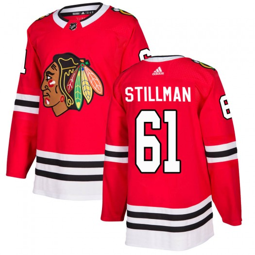 Riley Stillman Chicago Blackhawks Youth Adidas Authentic Red Home Jersey