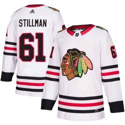 Riley Stillman Chicago Blackhawks Youth Adidas Authentic White Away Jersey