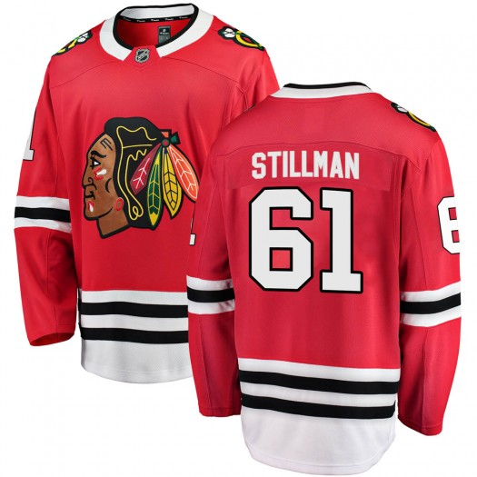 Riley Stillman Chicago Blackhawks Youth Fanatics Branded Red Breakaway Home Jersey