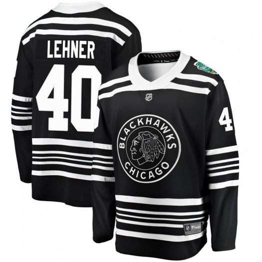 Robin Lehner Chicago Blackhawks Youth Fanatics Branded Black 2019 Winter Classic Breakaway Jersey