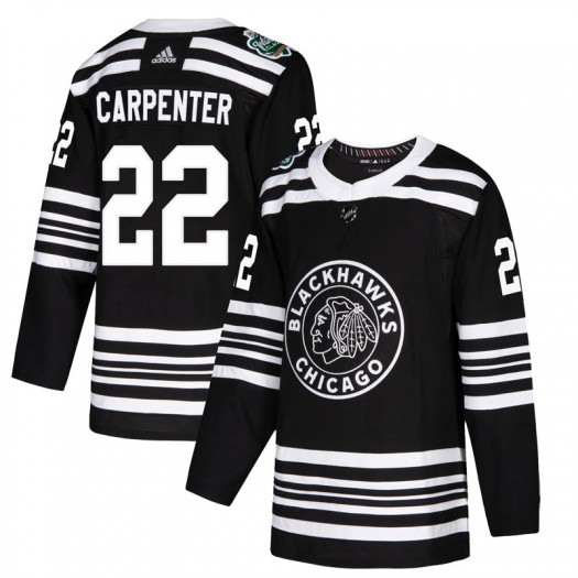 Ryan Carpenter Chicago Blackhawks Youth Adidas Authentic Black 2019 Winter Classic Jersey