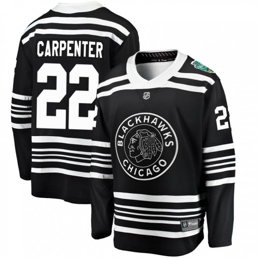 Ryan Carpenter Chicago Blackhawks Youth Fanatics Branded Black 2019 Winter Classic Breakaway Jersey