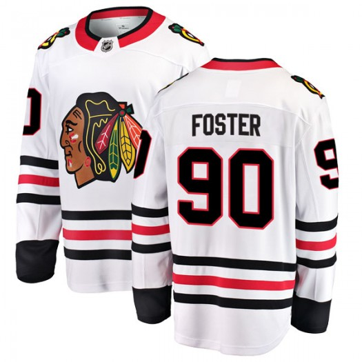 Scott Foster Chicago Blackhawks Men's Fanatics Branded White Breakaway Away Jersey