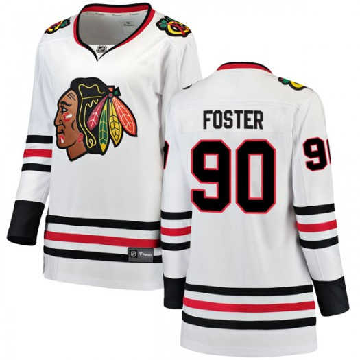 Scott Foster Chicago Blackhawks Women's Fanatics Branded White Breakaway Away Jersey