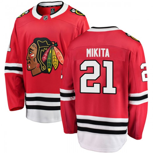 Stan Mikita Chicago Blackhawks Men's Fanatics Branded Red Breakaway Home Jersey