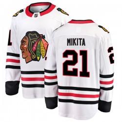Stan Mikita Chicago Blackhawks Men's Fanatics Branded White Breakaway Away Jersey